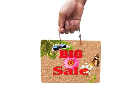 big cork: hand hold   brown cork board  natural information BIG SALE