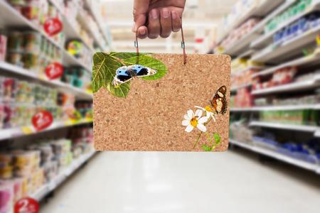 brown cork: hand hold   brown cork board  information BIG SALE in the supermarket