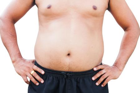 cuerpo hombre: vientre cuerpo gordo