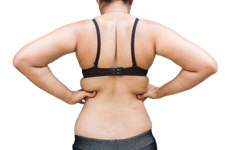 donne obese: Le donne obese mostrano più parti grasse da dietro Archivio Fotografico