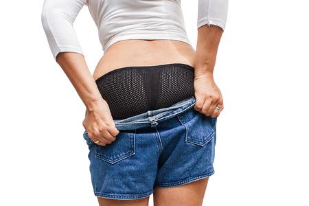 tried: Fat girl tried to wear Trousers.