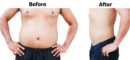 weight loss man: before and after body man fat belly after weight loss