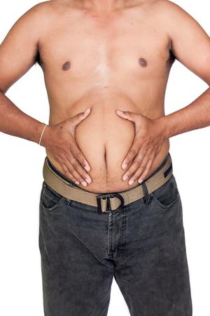 gordos: vientre cuerpo gordo