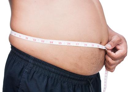 obesidad: Fat Man es la medición de su vientre.