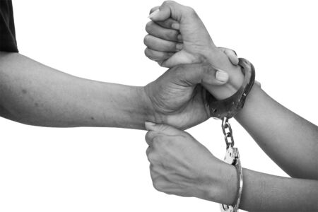 restraints: concept human Trafficking Slavery