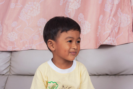 beautiful little boys: portrait of asian boy smile