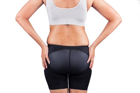 helpmate: fat women from rear Stock Photo