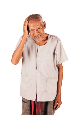 three year old: portrait of elder Eighty three year old smile Stock Photo