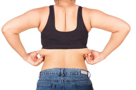 obesidad: Las mujeres obesas muestran más partes grasos a partir trasera