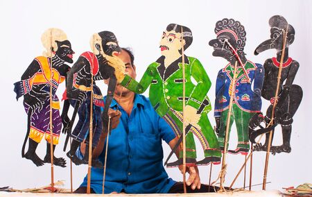 shadow puppet: Traditional south of Thailand Shadow Puppet Show