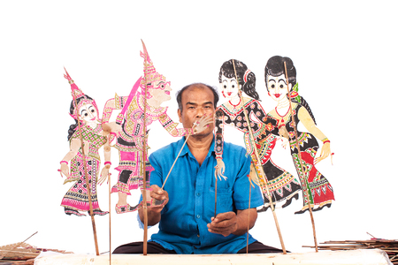 puppet show: Traditional south of Thailand Shadow Puppet Show