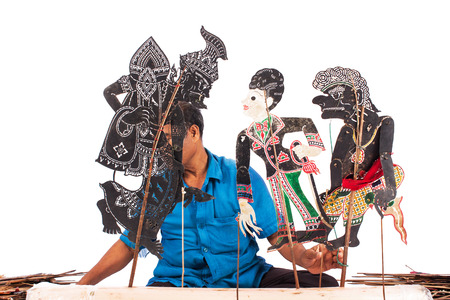 shadow show: Traditional south of Thailand Shadow Puppet Show