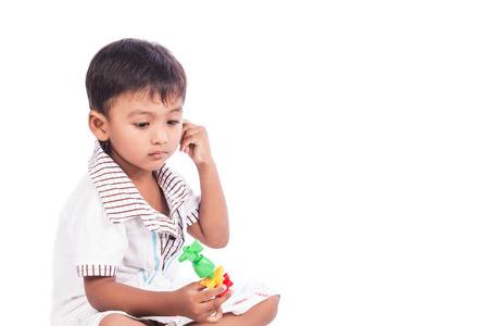 little cute boy unhappy 版權商用圖片