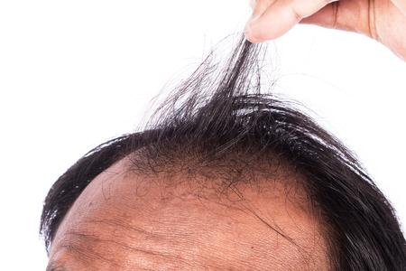 hombres jovenes: los hombres j�venes muestran el pelo Foto de archivo