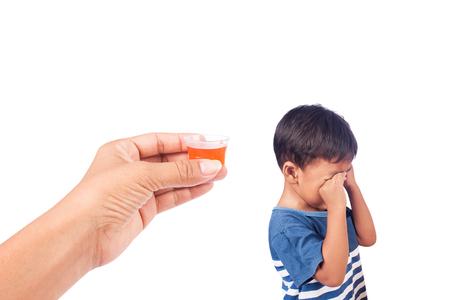 refused: child refused to take medication