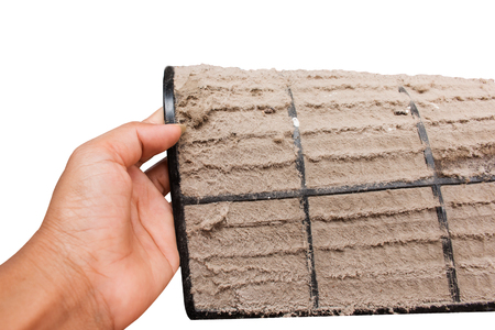Dust vent air conditioner Stockfoto