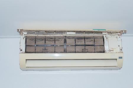 vent: Dust vent air conditioner Stock Photo