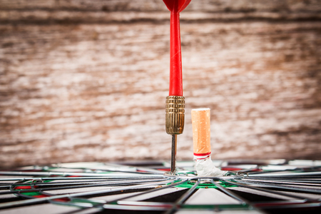 Concept No Smoking, Cigarette on Darts targets