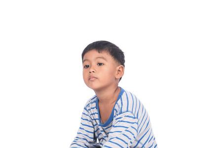 potrait: potrait of little boy sad