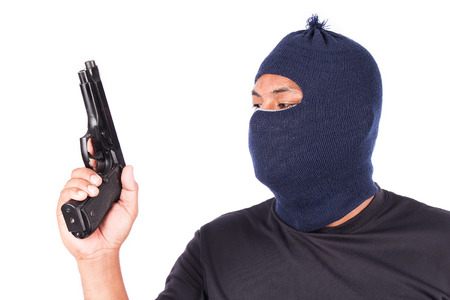 Young Burglar Wearing Mask