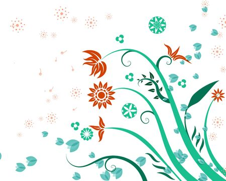 Abstract background natural  beauty  flower Illustration