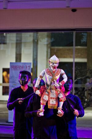pantomima: Tailandia - 16 de agosto 2014 - Mostrando pantomima Hanuman en el Art Stree