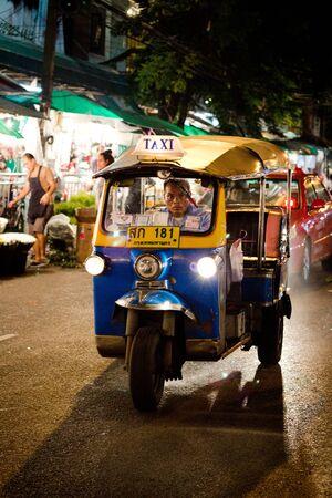 tuk: BANGKOK THAILAND : Tuk Tuk taxi Thailand Bangkok in night market