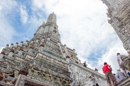 wat arun: BANGKOK THAILAND : Wat Arun temple in Thailand Bangkok