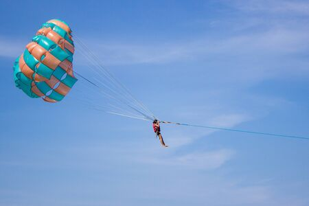 one man on parachute Editorial