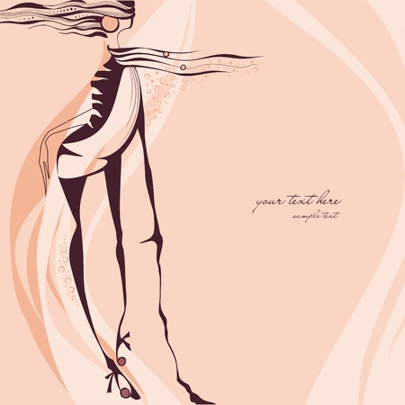 sketchy: Creative hand painted fashion illustration  Illustration