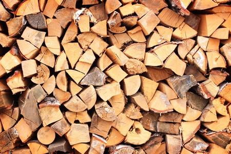 Raw split wood photo