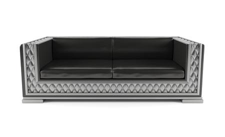 Luxurious sofa isolated on white background  photo