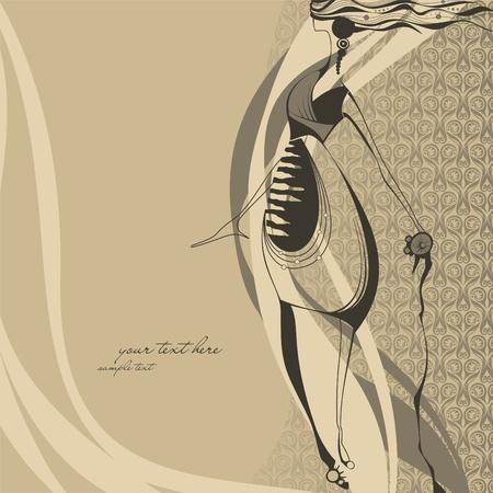Dziewczyna ilustracji mody Ilustracja