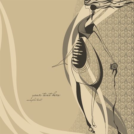 Fashion illustration girl