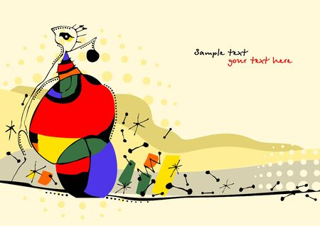 avantgarde: Creative hand painted illustration in style of avant-garde