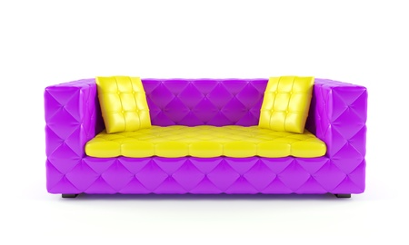 Luxurious color sofa with pillows photo