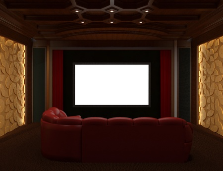 Interior Home Cinema Stock Photo