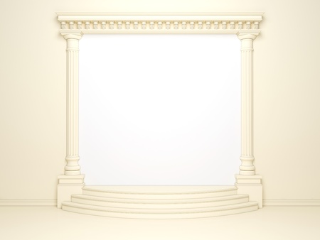 grandiose: Classical portal with columns and an arcade