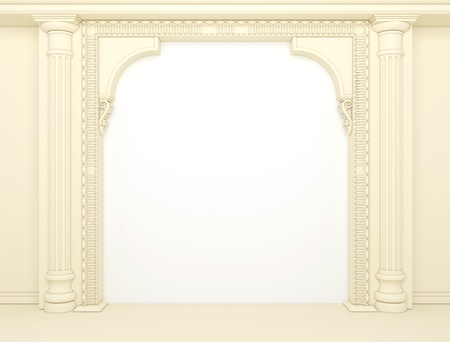 Classical portal with columns and an arcade