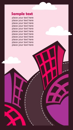 Vector urban art of building. Place for your text. Stock Vector - 10505060