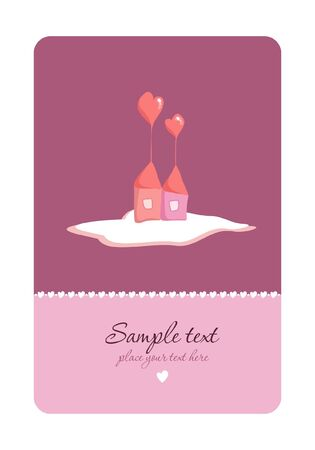 Heart House - Vector. Place for your text.  Vector