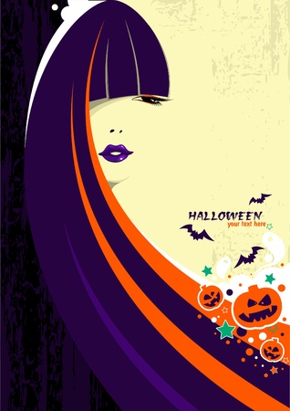 Halloween witch woman  Stock Vector - 10682987