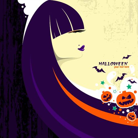 Halloween witch woman Stock Vector - 10682989