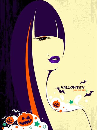 Halloween witch woman  Stock Vector - 10682986