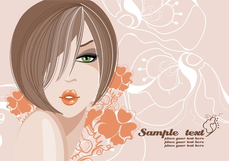 Beautiful and sexy girl.  Stock Vector - 11194662
