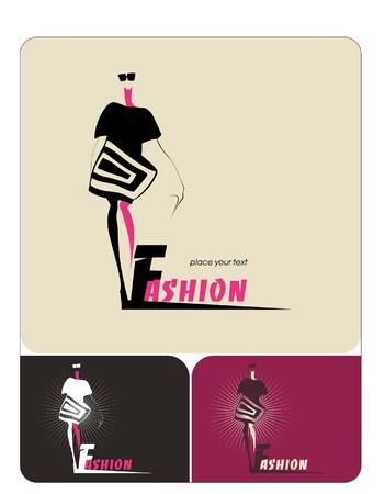 girl in burgundy dress: Fashion woman silhouette