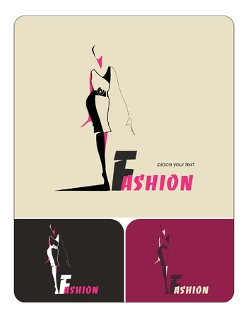clothing shop: Fashion woman silhouette