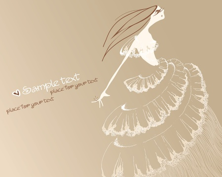 Romantic bride. Eps10  Vector