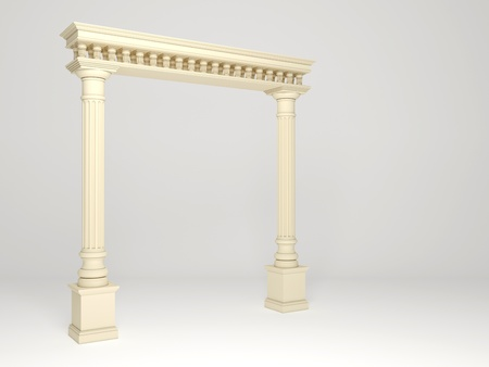 light columns: Element of classical architecture portal