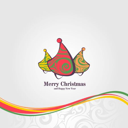 Funny Christmas trees illustration  Christmas Card Stock Vector - 11666491